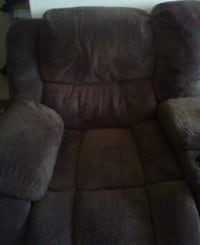 brown fabric recliner sofa chair 45 km