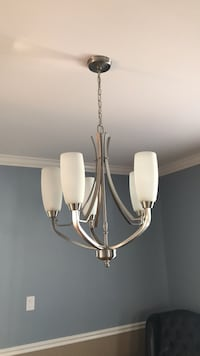 white and silver uplight chandelier Arlington, 22201