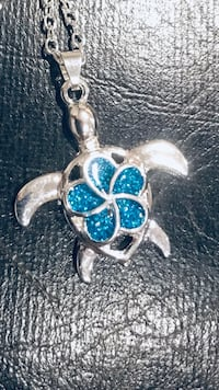 Blue Opal Turtles Necklaces Pendants Necklace