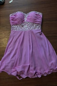 Purple homecoming dress