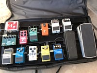 Pedal train board with pictured effects with built in power supply Henderson, 89015