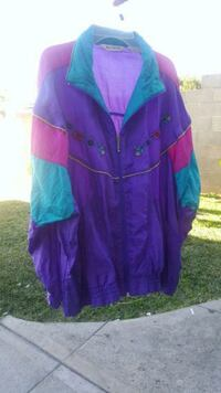 purple and green button up jacket Los Angeles, 90023