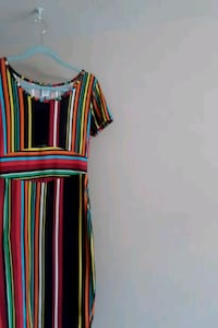 red, blue, and green stripe scoop neck dress Baltimore, 21218