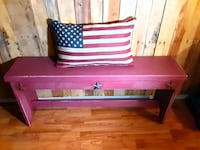 rustic star bench