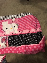 Hello Kitty bed in a bag . Sheets, pillow cases and comforter. Double bed size.