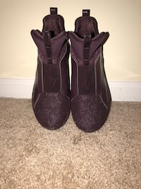 Pair of Maroon Puma  fierce sneakers