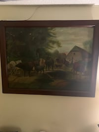1890 antique cow painting