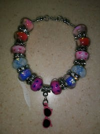 gray and multicolored beaded bracelet