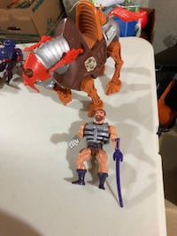 Masters of the universe heman vintage toys complete Fisto and stridor. Vaughan, L4H 2C3