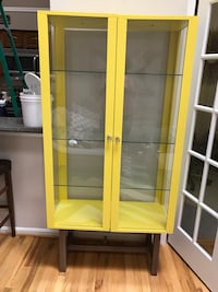 Yellow IKEA display cabinet. Price FIRM Laurel, 20707