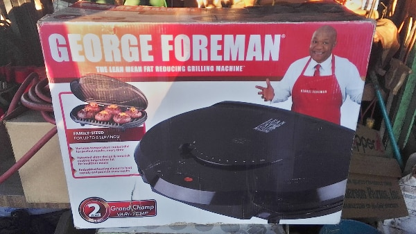 George Foreman electric grill box