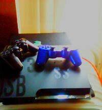 black sony ps3 with two controllers San Jose, 95122