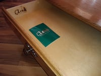 Coffee table with drawer, double glass top CICERO