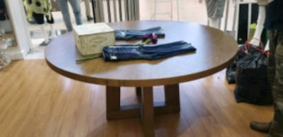 brown wooden top table