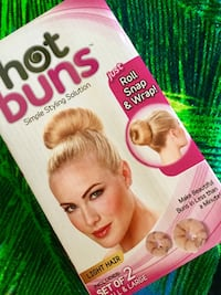 Hot Buns for light Hair / Hairstyling set of 2 in the box NEW never been used Alexandria, 22311