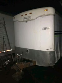 16ft white enclosed lawn trailer
