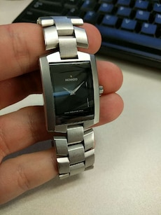 silver limk movado analog watch