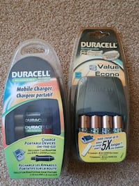 Duracell charger battery plus 4AA Brampton, L6Y