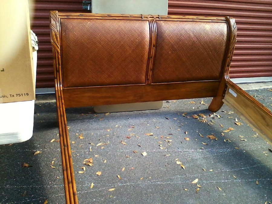 Used Solid Wood Queen Sleigh Bed Frame Head And Foot In