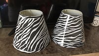 white-and-black zebra-print lampshades 743 mi