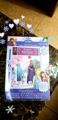 Frozen Else and Anna wall decorating kit for Birthday Party & Confetti Dearborn, 48126