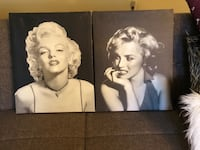 Set of Marilyn Monroe canvases