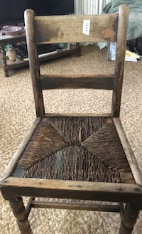 Antique chair reed seat