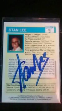 Mr Marvel trading card signed by Stan lee  Tulsa, 74106