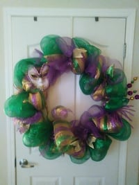 green, brown, and purple mesh wreath Shreveport, 71118