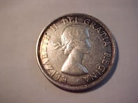 Canadian 1953 Silver Dollar Young Queen LONDON