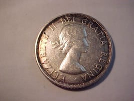 Canadian 1953 Silver Dollar Young Queen