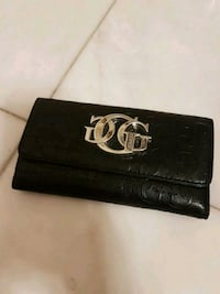 Black leather Women's Guess wallet