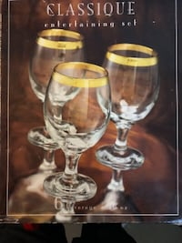 6pc wine glasses CENTREVILLE