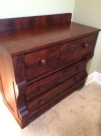 Handsome chest dresser( desk ) three large drawers top one pulls down as compartments and writing space See Pics. Great condition and beautiful ANTIQUE QUALITY. A UNIQUE FIND  30 mi