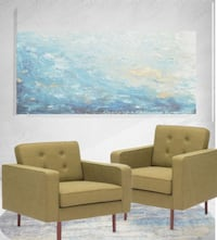 2 PUGET MID CENTURY ARM CHAIRS BY ZUO MODERN San Francisco
