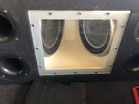 white and black subwoofer enclosure Long Beach, 90806