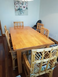 rectangular brown wooden table with four chairs dining set 786 km