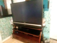 "Dark wood entertainment center and 48"" tv for ? Simi Valley, 93063"