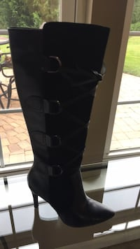 Black leather & suede knee high boots 6 1/2 Dumfries, 22025