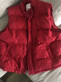 red zip-up bubble gilet Hopatcong, 07843