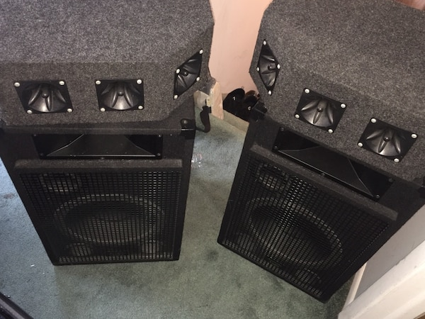 Black and gray speaker system