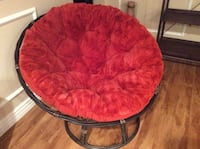 round red and black moon chair LOSANGELES