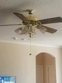 brown 5-blade ceiling fan with light fixture Orlando, 32818