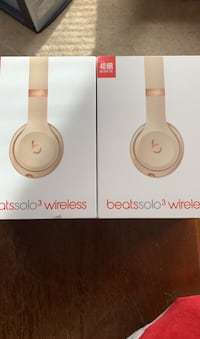 Beats solo wireless.  Satin gold
