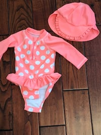 Size 3-6 M Swimsuit and Hat