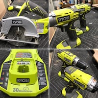 Ryobi - 18v Drill, Impact Driver, Circular Saw and battery charger. No batteries included. Thousand Oaks, 91362