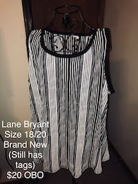 black and white striped sleeveless dress Fort Smith, 72901