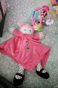 Baby girl rattle and toy