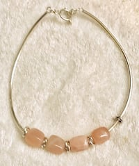 SILPADA Sterling Silver and ROSE QUARTZ beaded collar necklace Frederick, 21701