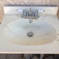 White ceramic sink with faucet 20x16 1/2 new Buena Park, 90620